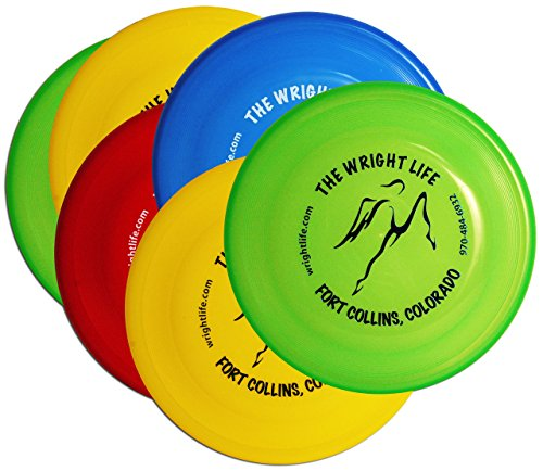 Wham-O Wright Life Fastback Frisbee Dog Disc - Six Pack (Assorted Colors)