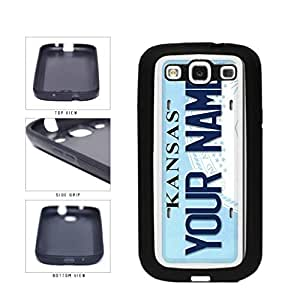 Personalized Custom Kansas License Plate TPU RUBBER SILICONE Phone Case Back Cover Samsung Galaxy S3 I9300