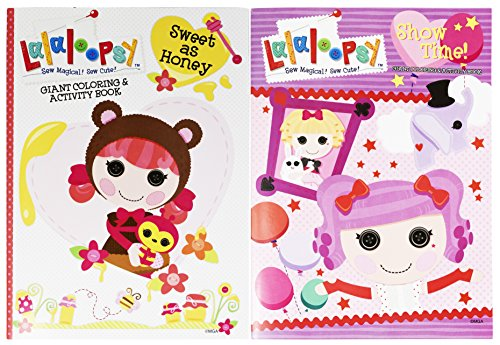 Set of 2 Lalaloopsy Jumbo Coloring & Activity Book! Sweet as Honey - 96 Pages - Tear and Share Pages - Coloring and Activity Book Perfect for any Lalaloopsy (Diy Lalaloopsy Costume)