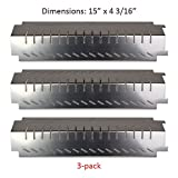 grill centro - BBQ funland SH4011 (3-Pack) Porcelain Steel Heat Plate, Heat Shield, Heat Tent, Heat Diffuser for Centro, Charbroil, Costco, Thermos, Lowes Model Grills
