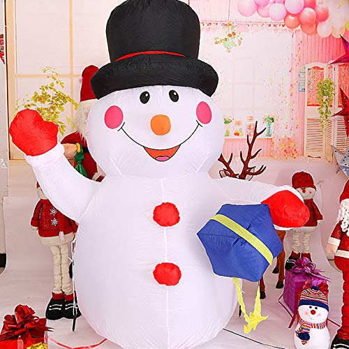 Outdoor Lighted Snowman Head in US - 6