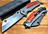 8' Survival Knife Tactical Folding Pocket Knife with 3.5' Stainless Steel for Tactical Rescue, Cleaver,Glass Breaker,Emergency Response and Camping by SUPER KNIFE