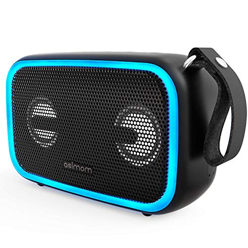 ASIMOM Portable Bluetooth Speaker, 28W with Enhanced Bass, Waterproof IPX67, 12H Playtime, Wireless Stereo Pairing, LED Beat-Driven Light Bluetooth Speaker