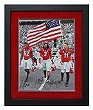 Todd Gurley Aaron Murray Amarlo Herrera Autographed and Custom Framed US Flag Spotlight Georgia Bulldogs Photo