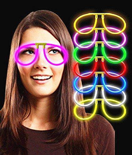 24 Pairs Of Aviator Glow Eyeglasses - Color Assorted - Aviator Eyeglasses Glow