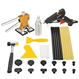 TongYu Paintless Dent Repair Kit Auto Body Tools set Gold Dent Lifter with Puller Tabs Hot Glue Gun Sticks for Car Auto Body Dent Removal