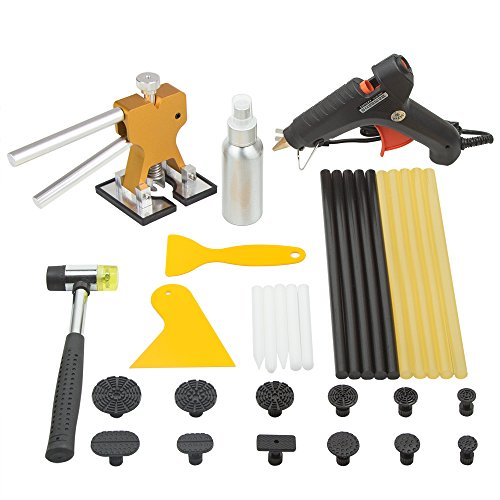 TongYu Paintless Dent Repair Tools Auto Body Dent Puller set Gold Dent Lifter with Puller Tabs Hot Glue Gun Sticks for Car Body Repair