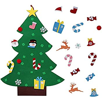 diy felt christmas tree decoration xmas party wall hanging ornament for kids gift home office shop - Christmas Tree Decorations For Kids