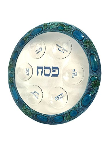 Glass Seder Plate for Passover Hand Made in USA! 13