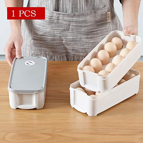 TOUA Kitchen Plastic Refrigerator Egg Storage Box/Container Holder Fridge Tray, 10 Grid Egg Box (Transparent) Price & Reviews