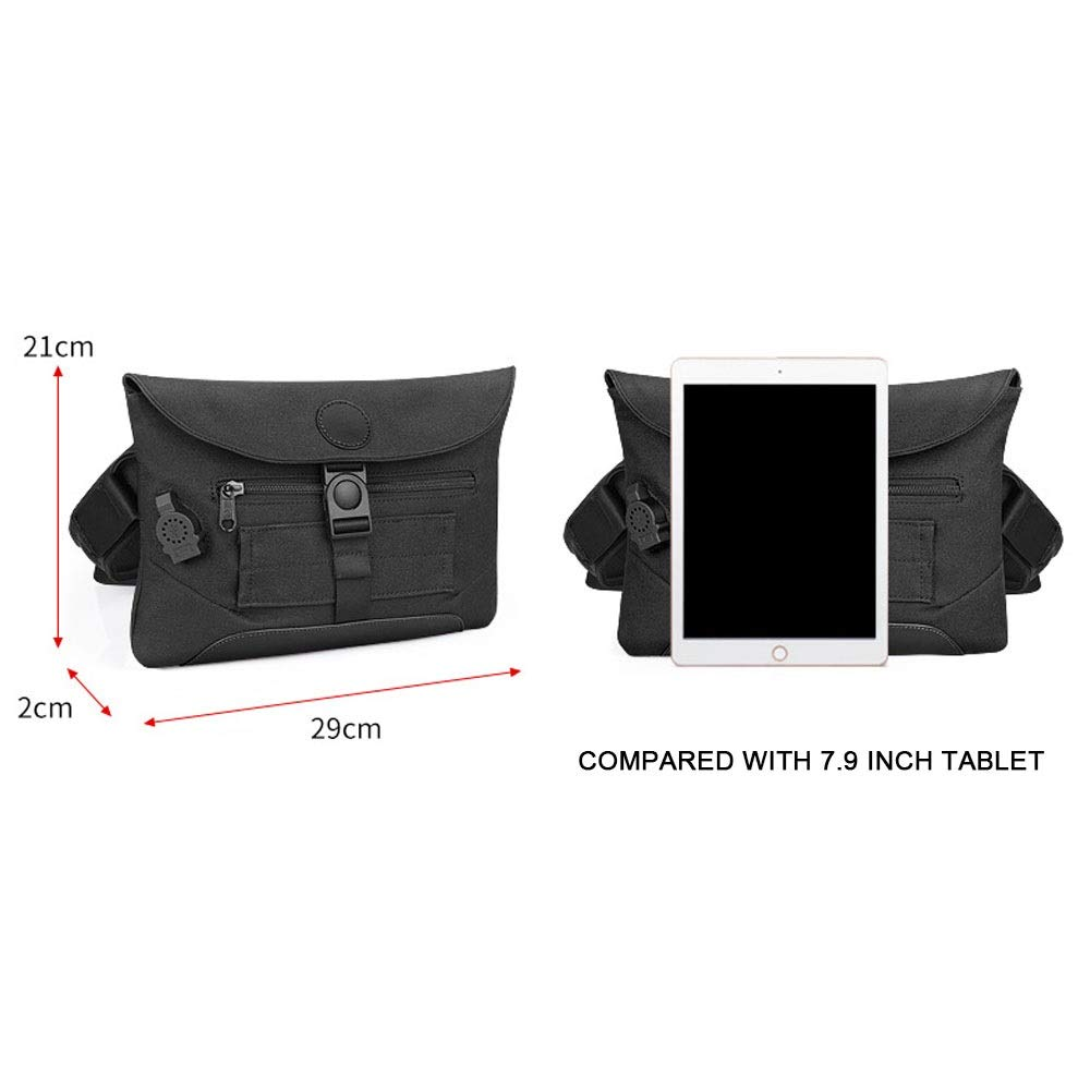 zZZ Oxford Spinning Men and Women Chest Bag Multi-Function Sports Outdoor Messenger Bag Business Casual Small Handbag Waterproof Shoulder Bag External USB Travel