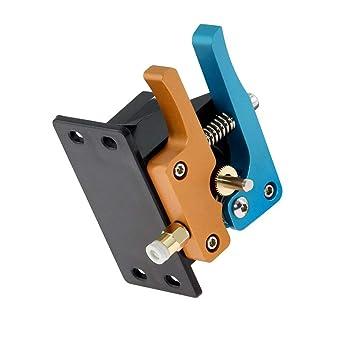 TOOGOO Piezas De La Impresora 3D Oro Azul Mk8 Bowden Extrusor ...