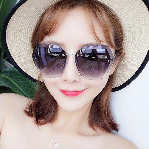 confortables Lunettes Amazing de C de Couleur C soleil irrégulières Lunettes féminines visage rondes polygonales vx1vnrw