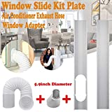 Window Slide Kit Plate + Window Vent Adapter + Air Conditioner Exhaust Hose - 1Set PVC Air Conditioner Window Vent Hands Tool