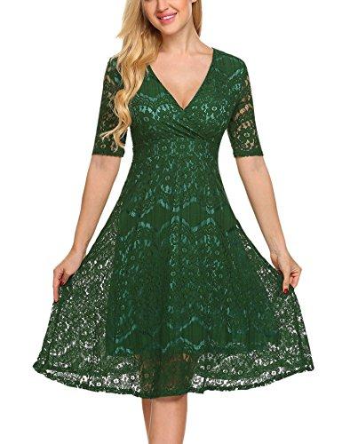 3 4 sleeve dress lace - 8