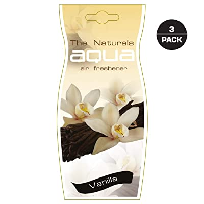Aqua Flower Car Air Freshener, Vanilla (Pack of 3): Automotive