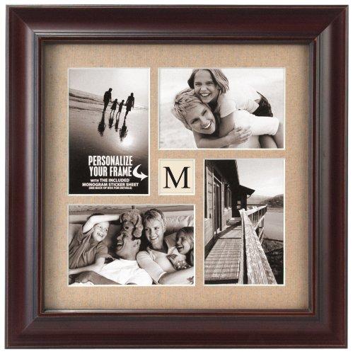 malden international designs barnside portrait gallery personalized textured mat picture frame 4 option 4 4x6 walnut