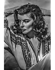 Katharine Hepburn Notebook, Journal, Diary - Classic Writing 120 Lined Pages #4: Famous People Person Legends Actors Actress Singers Writers Presidents Old Hollywood Movie Star, 6 x 9 Inches Lined Notebook