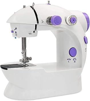LSHUNYDE Máquina de coser portátil Máquina de coser, Máquina de coser eléctrica Overlock, Heiße Mini-Nähmaschine ...