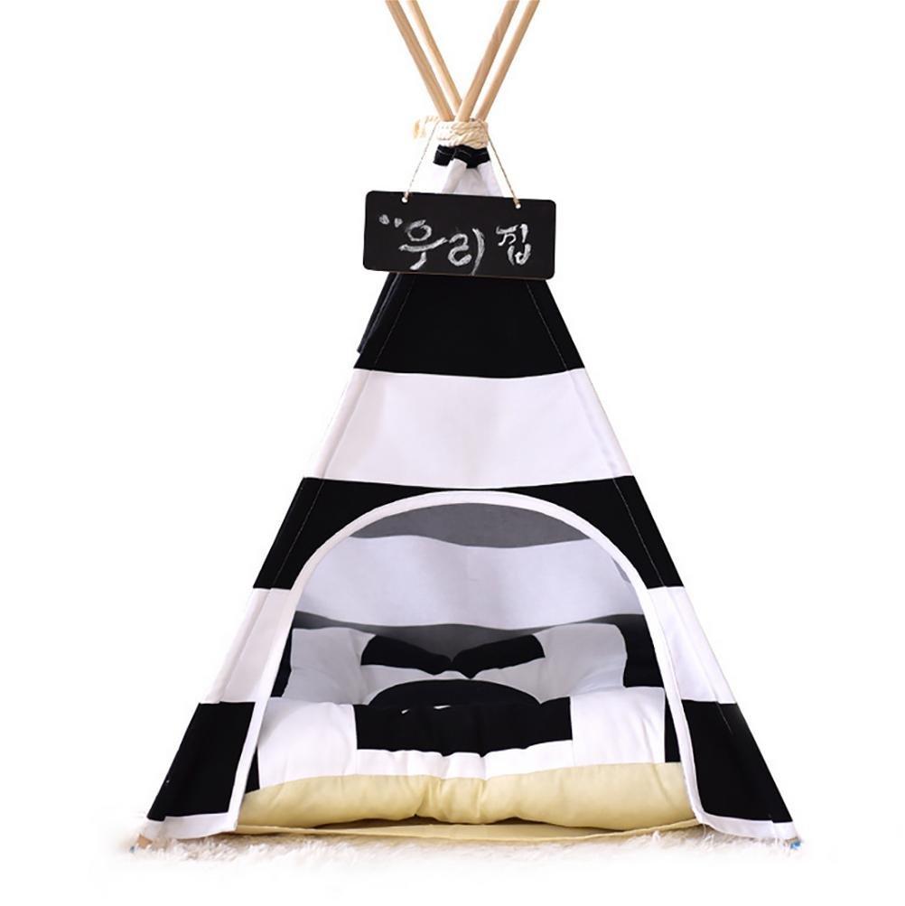 DIAMO Letto per Cani Teepee Dog House Toy Tent con Cuscino 55 × 55 × 65 cm