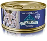 Blue Buffalo Wilderness Adult Grain Free Chicken Pate Wet Cat Food  5.5-oz (pack of 24) Larger Image