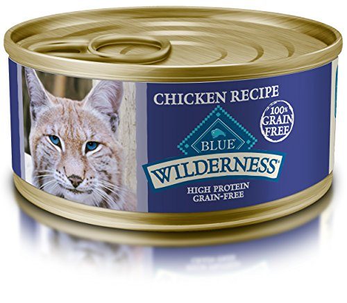 Blue Buffalo Wilderness Adult Grain Free Chicken Pate Wet Cat Food  5.5-oz (pack of 24) (Blue Flame Stuff)
