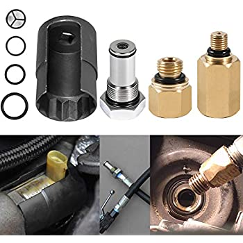 Manicar 6.0 Test Fitting Tool Compatible with Ford 6.0L Powerstroke Diesel High Pressure Oil Pump IPR Valve Air Test Fitting Tool