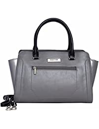 Reaction Kenneth Cole Victoria Satchel with Removable Strap (Fog)