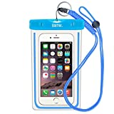 EOTW Waterproof Cell Phone Case Pouch Pocket Dry Bag with Military Class Lanyard For Diving Surfing Skiing, Fits iPhone 6 6S Plus 5 5S 5C SE, Galaxy S4 S5 S6 S7 Edge, Blu LG Motorola NOKIA HTC - Blue