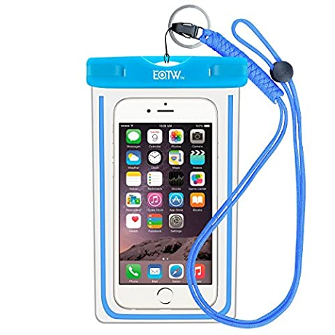 EOTW Waterproof Cell Phone Case Pouch Dry Bag with Military Class Lanyard For Diving Surfing Skiing, Fits iPhone 6 6S Plus 5 5S 5C SE, Galaxy S4 S5 S6 S7 Edge, Blu LG Motorola NOKIA HTC (Cell Phone Accessories)