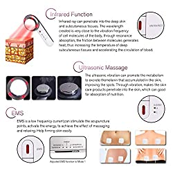Fat Remover Machine 3 in 1 Sonic Burn Fat Machine Infrared Weight Loss Machine EMS Body Shaping Massager for Belly Loss Fat Skin Care Beauty Device