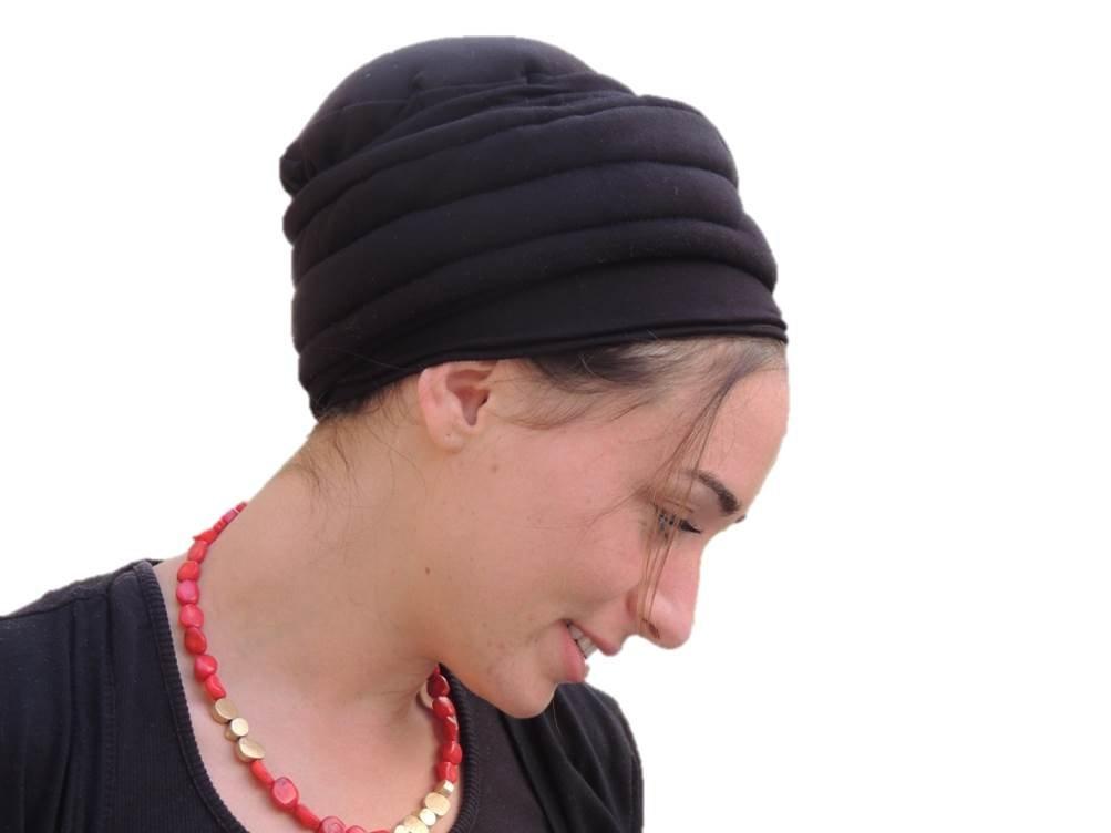 Sara Attali Design Tichel Volumizer Head Scarves, Chemo Volumizing Super Plus Black by Sara Attali Design (Image #2)