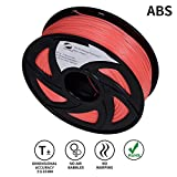 Lee Fung 1.75mm ABS 3D Printing Filament Dimensional Accuracy +/- 0.05 mm 2.2 LB Spool DIY Material Tools (Pink)