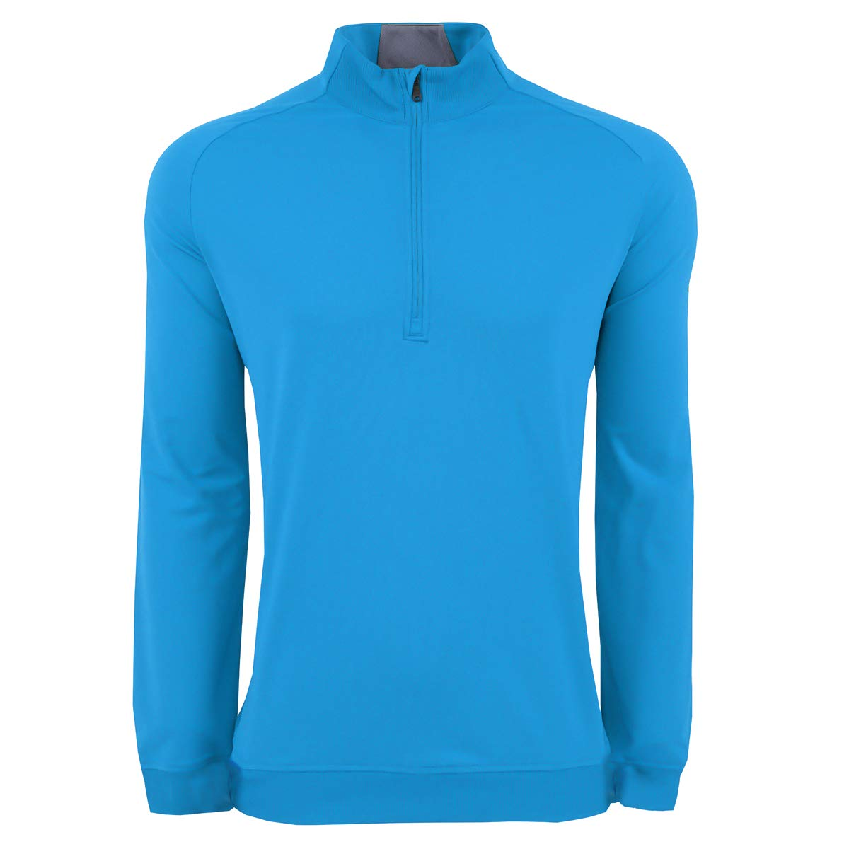 adidas Golf Men's Classic Club 1/4 Zip Pullover Sweater, Small, Bright Blue