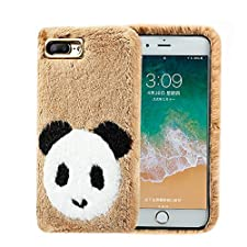 iPhone 7 Cute Case for Girls,Jennyfly Winter Warm Soft Design Durable Slim Lightweight Fully Protection Anti-Scratch iPhone Case Compatiable with 4.7 Inch iPhone 7/8-Khaki