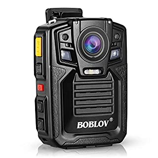Body Worn Camera with Audio, BOBLOV 1296P Police Body Cameras for Law Enforcement, Security Guard, Waterproof Body Mounted Cam DVR Video IR with Night Vision, 170° Wide Angle(Built in 64GB GPS)