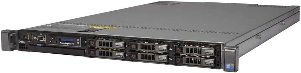 Dell PowerEdge R610 6 x 2.5 Hot Plug E5506 Quad Core 2.13Ghz 24GB 2X 146GB SAS 6i/R 2X 507W (Renewed)