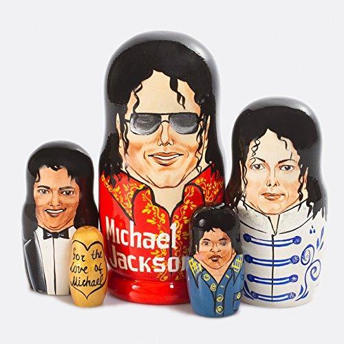 Michael Jackson Nesting Dolls Set of 5pcs Matryoshka Dolls