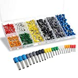 Wire Ferrules, Sopoby Insulated Crimp Pin Terminal Kit for Electrical Projects, AWG 24-10, 8 Sizes
