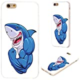 shark iphone 6 case - iPhone 6s Case,iPhone 6 Case,VoMotec [Original series] Shockproof Anti-scratch Slim Flexible Soft TPU Protective Skin Cover Case For iPhone 6 6s 4.7 inch,funny cartoon blue shark show muscle