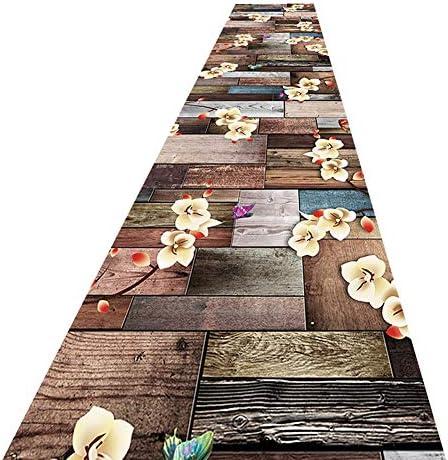 階段 滑り止めマット 廊下ランナーラグ防湿バッキングカット可能抽象模様折りたたみ式ブレンド生地 階段マット (Color : B, Size : 1.1x4m)