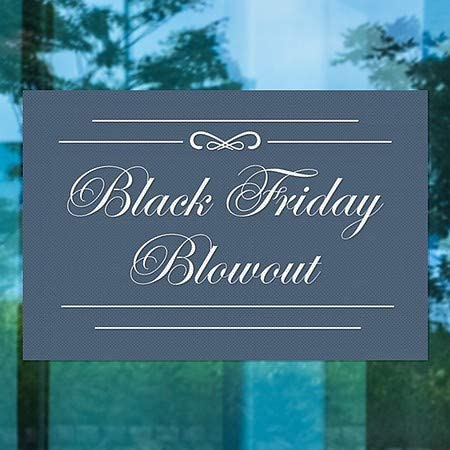 CGSignLab Stripes Blue Perforated Window Decal 5-Pack 96x48 Black Friday Blowout
