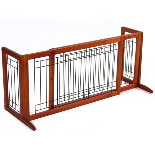 Ediors Pet Fence Gate Free Standing Adjustable Expandable Do