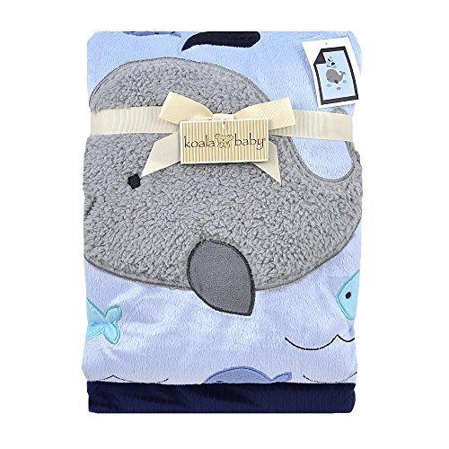 Koala Baby Blue Whale Jumbo Blanket
