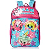 Shopkins Girls Backpack with Lunch, blue
