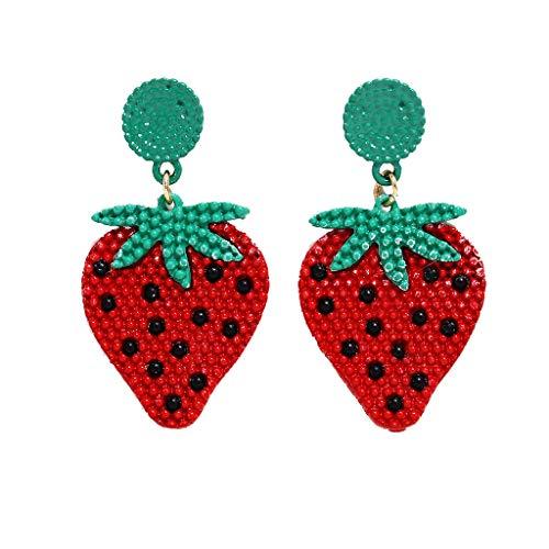 No 2019 Halloween Skins (Bravetoshop Earrings for Women Bohemian Marine Handmade Rice Beads Fruit Metal Dangle Earrings Set Jewelry Women)