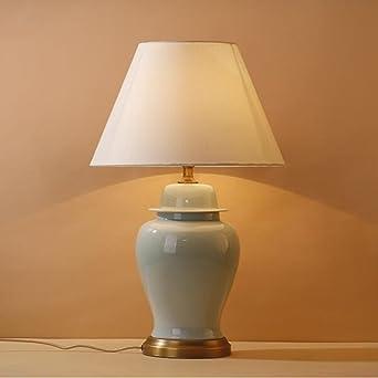 Mode Amerikanische Minimalist Art Keramische Sprung Tischlampe Wohnzimmer  Schlafzimmer Nachttischlampe Tischlampe Edel Und Elegant