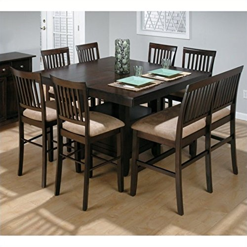 Jofran Counter Height 8PC Dining Table Set in Cherry Finish