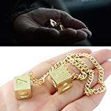 MING KUO Han Solo Lucky Dice Prop Cosplay Costumes replica Accessories,1.3 cm The Last Jedi Dice with Star Wars Movie Link Chain Jewelry
