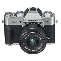 """Fujifilm X-T20 - Cámara Evil de 24 MP (pantalla de 3"""", visor electrónico, resolución máxima 4K, kit cuerpo con objetivo XC 15-45 mm F3.5-5.6 OIS PZ), color plata"""